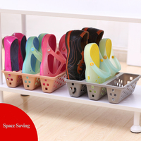 Latest Design Combination Plastic Shoe Storage Box with Dividers
