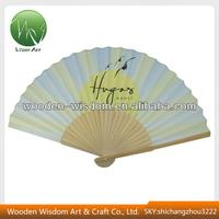 YM-ZZ002 Fashion Design Promotion Paper Bamboo Hand Fan