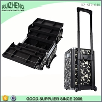Aluminum Material Packaging and Boxes Travel Cosmetic Makeup Artist Train Case