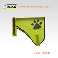 Free sample Wholesale dog clothes pet product high visibility dog accessories reflective vest
