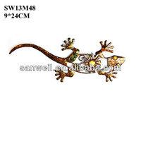 Metal wall art lizards