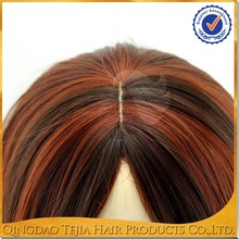 Best quality kanekalon syntheic high light mono filament wigs