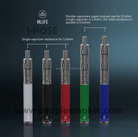 2015 high quality big pen vaporizer I hose BVC thick dual coil replaceable atomizer large vapor E-cigarette for US market