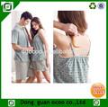 venta al por mayor de verano de algodón diseño pareja todo adulto pijama