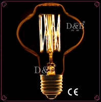 Vintage edison incandescent light bulb, L85 110/220V decorative lamp bulb edison lamp, Edison bombilla