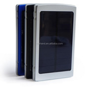 Universal high capacity solar power bank/solar mobile phone battery charger 10000mAh dual USB output