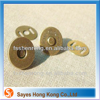 High quality luggage tag magnetic snaps metal parts for handbag handles