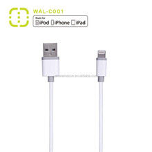 for iPhone 5 iPhone 6 original mfi certified 8 pin pvc injection data charging cable