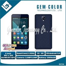 5.0 inch 4G LTE smart mobile phone with IPS Panel dual Camera