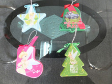 Hanging christmas plastic shaped ornaments