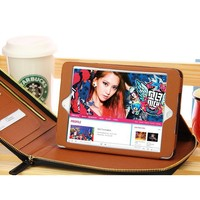 Commercial Style Zipper Leather Case for iPad Mini