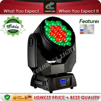 Zoom 19x15w RGBW 4in1 Beam Wash Moving LED Head Light
