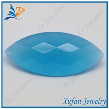 Crystal blue marquise shape diamond cut glass gems