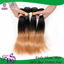 Wholesale Hair Extension Wavy Virgin Brazilian Ombre Hair Weave