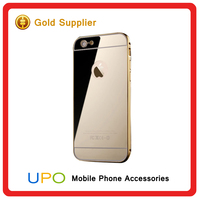 [UPO] Hot selling Aluminum Bumper Plastic back Cell Phone Case Cover case for iphone 6 with Mirror