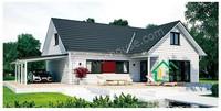 Light steel villa mobile prefab living houses steel structure frame with garage