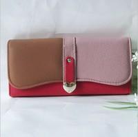 Bz5195 vWholesale women contrast color purse wallets 2016