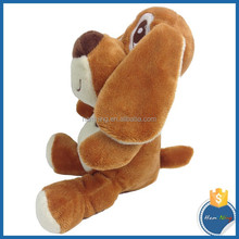 18cm cartoon wholesale happiness hot selling high quality barking dog shape plush toys with long ears