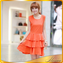 The New Spring/Summer 2015 Women's Clothing Han Edition Cultivate One's Morality Show Thin Skirt Falbala Chiffon Dress