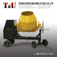 600L electric/gasoline/diesel concrete mixer within cast iron gear ring