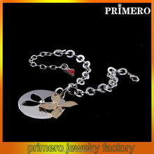 PRIMERO fashion gold plating wholesale Europe america popular bracelet connector charm with gemstone engraved logo