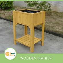 Two layers wooden flower Planter