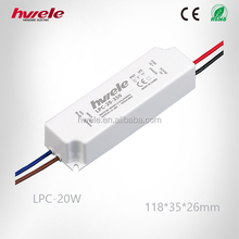 LPC-20W constant current LED power supply 700mA with CE ROHS KC PSE TUV CCC certification
