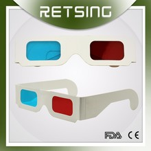 custom logo paper red blue 3d glasses