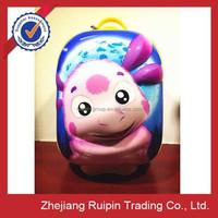zhejiang new product cheap price 3D kids single trolley bag