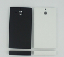For Sony Xperia U ST25i ST25 White Black Battery Back Door Cover Housing with original logo repair parts SN-021