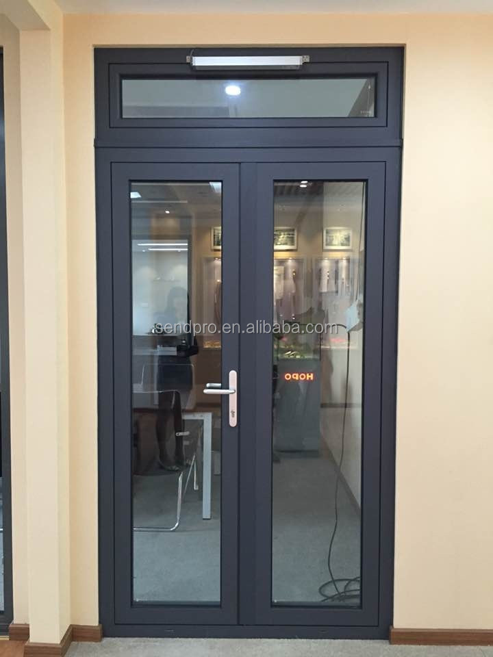 Exterior Double Glazed Side Hung Aluminum French Doorfront Entry