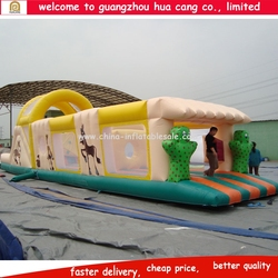 Commercial cheap kids obstacle course equipment,inflatable toys tunnel rental,giant inflatable sports obstacle
