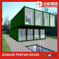 modern style modularization anti-corruption container house with inner stairs