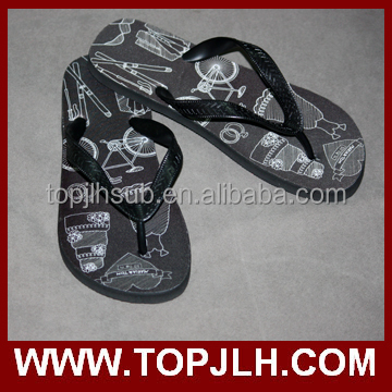 coloured flip flops slippers, Blank sublimation flip flops