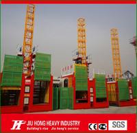 Double cage mast construction passenger elevator,construction lift single cage