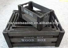 madera contrachapada de cajón de madera para vegetales o frutas