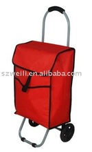 big space red shopping trolley bag