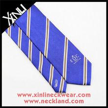 Blue Stripe Custom Silk Woven Tie, Stripe Necktie