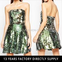 NIGHT Sequin Bandeau Mini Dress