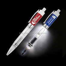 Wholesale custom novelty White Snow Light Up Pen