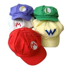 Game Super Mario Bros Hat Mario Luigi Cap Hat Cosplay Costume Accessory