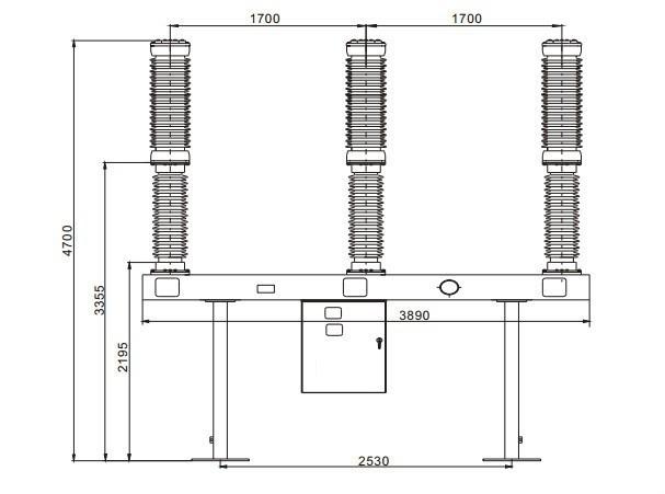 lw36 72 5 126kv 145kv 3 phase circuit breaker   sf6 gas