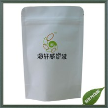 Solid white printing nutruition Chia seed packaging bag with zipper lock