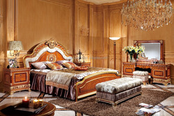 Hot sales classic wooden bedroom furniture 0062