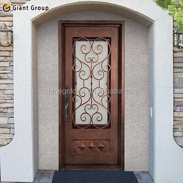 Arco de la alta calidad del frente de entrada de hierro for Ver disenos de puertas de fierro