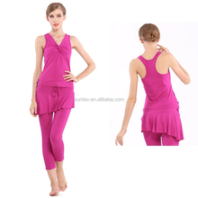 Beautiful and sexy red wear for women in dancing and yoga sports