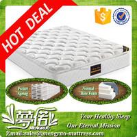 Long lifespan innerspring royal double pillow top 5 star hotel mattress