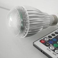 E27/E26 9W RGB LED Light Bulb 16 Colors Changing Dimmable Multi Color LED Light with IR Remote Control for Home Decoration