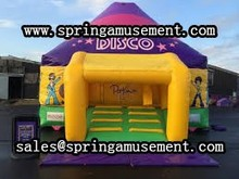 Commercial bouncy castle inflatable disco dome bounce house for kids SP-DD011