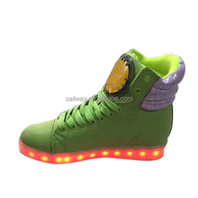 2016 new design LED shoes for lady 8 color changed led shoes woman